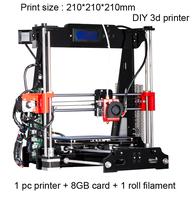 Hot sale  reprap prusa i3 diy 3d printer print size :210*210*210mm 3d printer diy kit  high precision diy kit