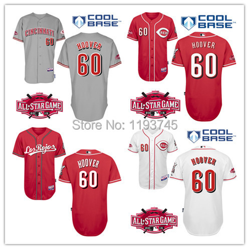 New Cheap Mens Cincinnati Reds Jerseys #60 J.J Hoover Baseball Jersey,100% Stitched Name And Number,Mix Order(China (Mainland))
