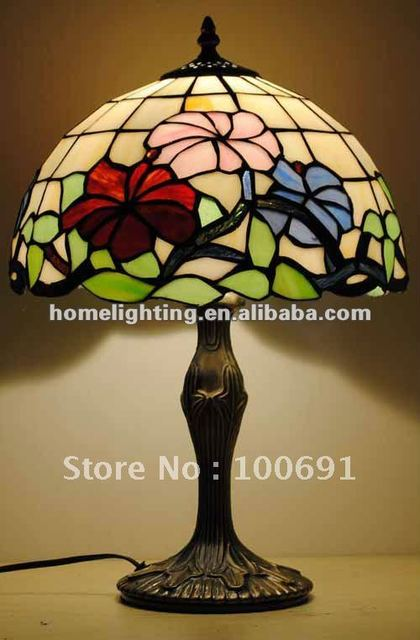 "Tiffany Style Stained Glass Table Lamp-12"" shade,TFT1218-2"