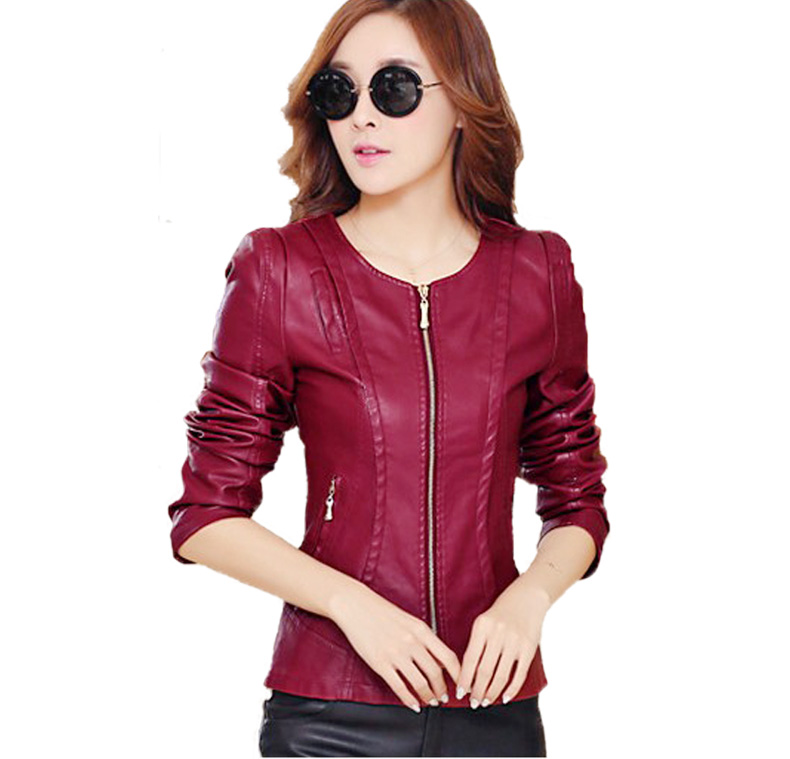 Buy 2016 new spring autumn plus size 4xl for Red leather shirt for womens