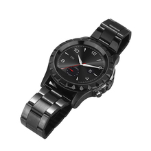 Stainless Steel Band Heart Rate Monitor Bluetooth Smart Watch with HD Camera for Apple iPhone Android Samsung HTC LG Smartphone