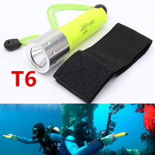 Hot 2000LM CREE T6 LED Waterproof underwater scuba Diver Diving Flashlight Dive Torch light lamp for 18650 Battery(China (Mainland))