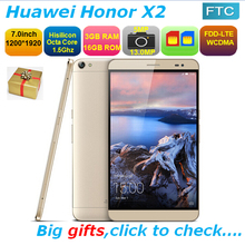 Original Huawei Honor X2 GEM-703L 4G FDD LTE Phone Octa Core CPU 7 inch 1200x1920P Screen 3G RAM 16G ROM Android 5.0 Dual SIM(China (Mainland))
