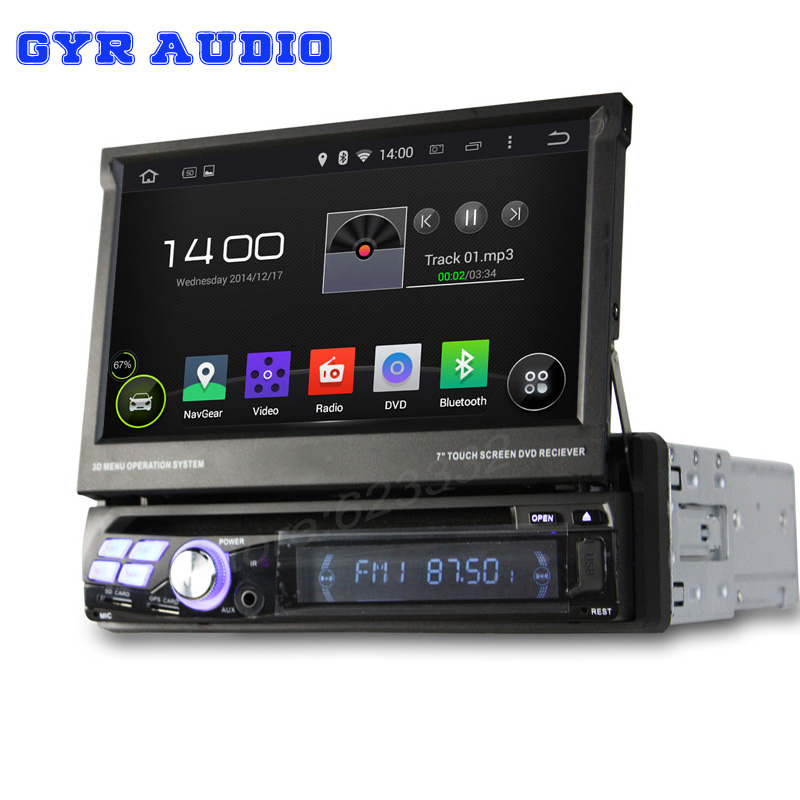 1 din quad core Android 4.4 universal dvd player Car PC head Deck DVD gps Player GPS Navigation 3G WIFI BT usb(China (Mainland))