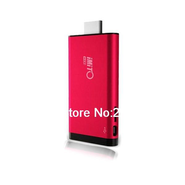 iMito MX1 RK3066 Dual Core Android 4.1 Mini PC Smart TV Box Bluetooth 1GB RAM 8GB Red(China (Mainland))