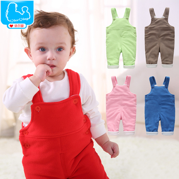 Warm Winter Baby Bib Pants Baby Jumpsuits Polar Fleece Boy Girl Baby Clothes Toddler Bodysuits Newborn One Pieces