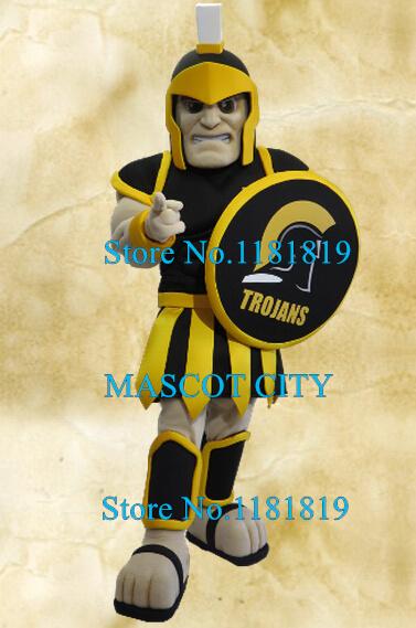 MASCOT CITY black armor Trojan mascot spartan knight warrior costume adult anime cosplay fancy dress for school college sport Одежда и ак�е��уары<br><br><br>Aliexpress