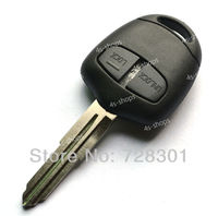 No chip Replacement Uncut Blank Key Case Shell For Mitsubishi Pajero With 2 Buttons Left Groove Blade Free Shipping