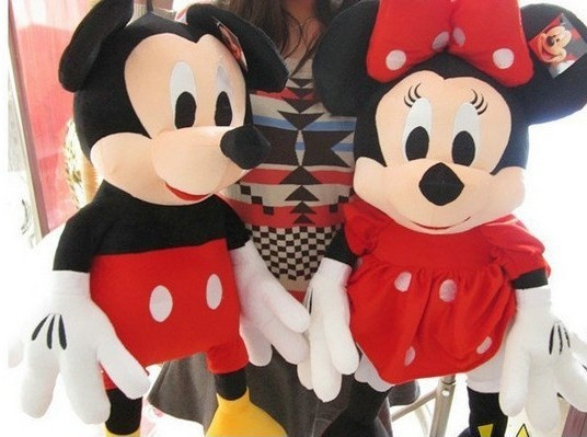 2pcs/lot 30cm Mini Lovely Mickey Mouse And Minnie Mouse Stuffed Animals Plush Toys For Children's Gift X1074(China (Mainland))
