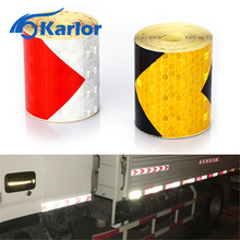 Buy 5cmx300cm Arrow Reflective Tape Safety Caution Warning Reflective Adhesive Tape Sticker Truck Motorcycle Bicycle Car Styling for $1.96 in AliExpress store