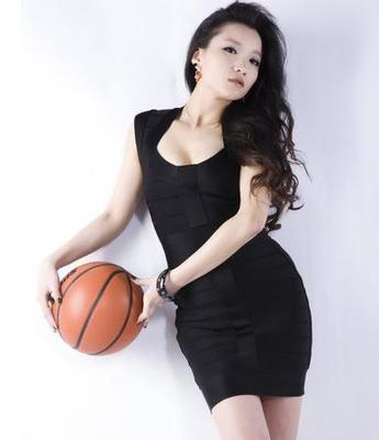 Lowest Price Clothing 2015 Summer Women HL Short Bandage Dresses Hot Sexy Mini Club Wear Tight Stretch Pencil Bodycon Black(China (Mainland))