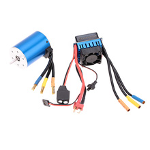 3650 3100KV/4P Sensorless Brushless Motor with 60A Brushless ESC for 1/10 RC Car Truck(China (Mainland))
