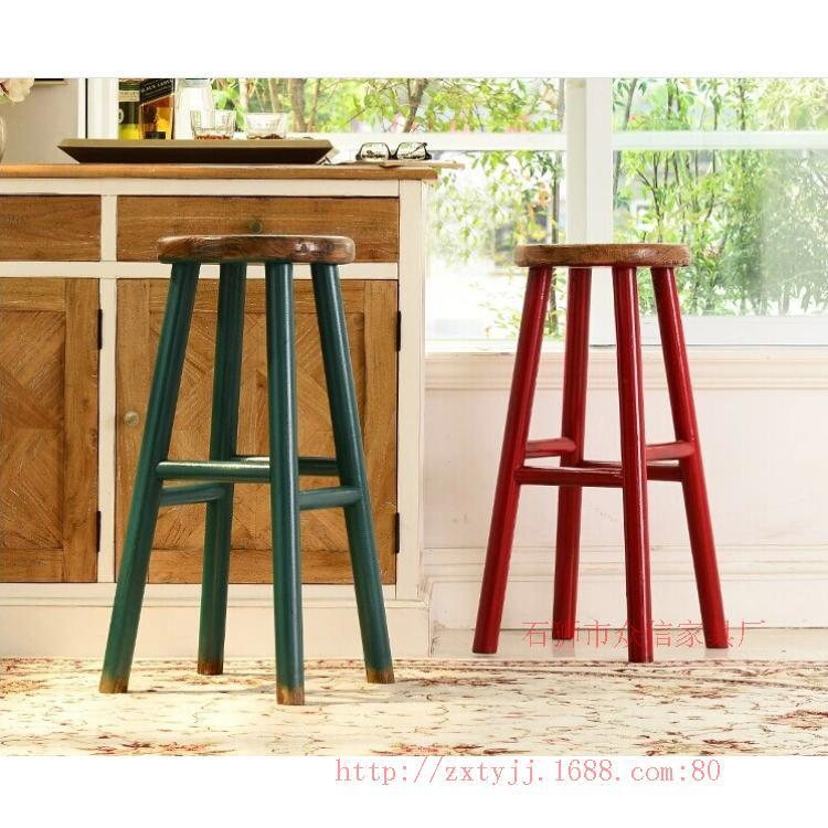 Bar stools supply special high-grade wood, wrought iron bar chairs beautiful antirust American Bar chair(China (Mainland))