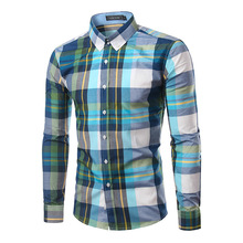 Buy 100% Cotton Mens Plaid Shirt 2016 New Mens Slim Long Sleeve Dress Shirts Casual Mens Shirt Chemise Homme Camisa Social 4XL 6005 for $7.59 in AliExpress store