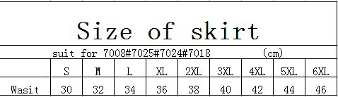size of skirt