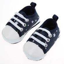 Новорожденный Ребенок Малышей Мальчики Девочки Мягкой Подошвой Дети Обувь Холст Prewalker FCI #(China (Mainland))