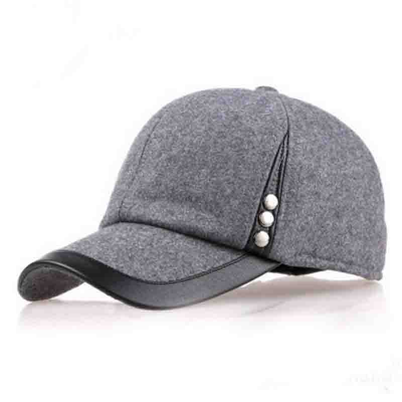 High Quality Man'S Men Boy Winter Warm Ear Protection Hats Casual Outdoor Woolen Vintage Caps Baseball Visors Headwear Hat Cap(China (Mainland))