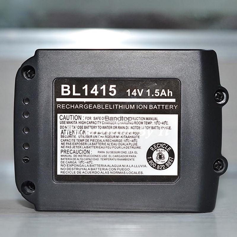 1500mAh Replacement Li ion Power Tool Battery BL1415 for Makita BHP440RFE BDF440RFE BTD133RFE BDF444Z BHP444Z BHP343