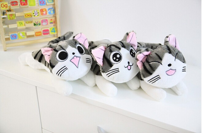 20CM Cartoon Sweet Anime Figure Cheese Cat Plush Toy 4 Expression Stuffed Animal Doll Pillow Cushion Creative Gift For Kid PT028(China (Mainland))