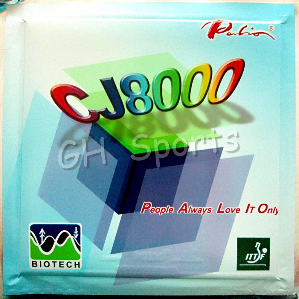 Free Shipping, Palio CJ8000 BIOTECH (Near-table Loop+Attack) Red Pips-In Table Tennis (Ping Pong) Rubber With Sponge
