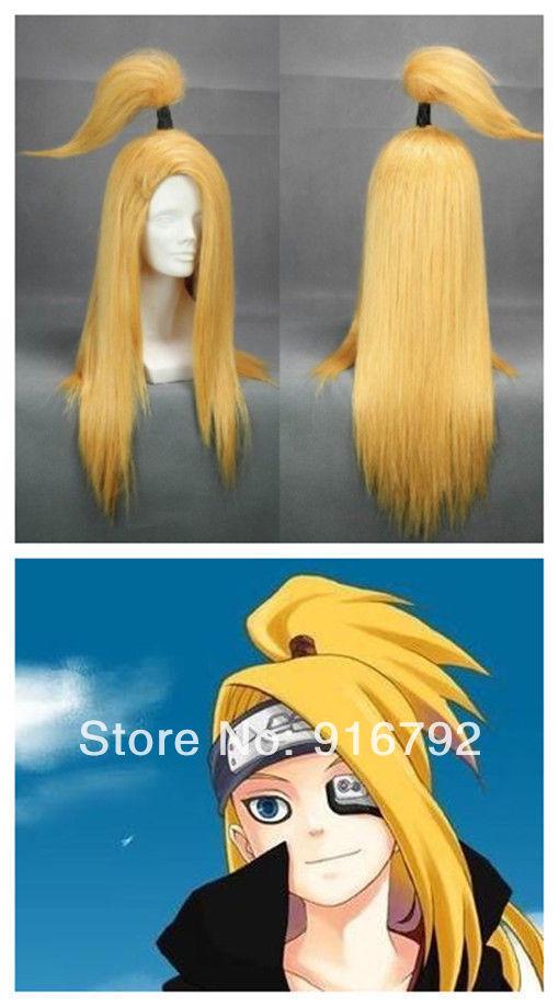 Rock Village Akatsuki Deidara Wig Cosplay(China (Mainland))