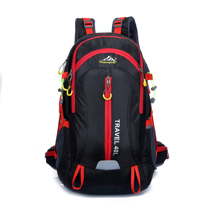 Free shipping Nylon sports backpack Camping Hiking riding travel backpack daily school backpack men women fation bag 0988 40L(China (Mainland))