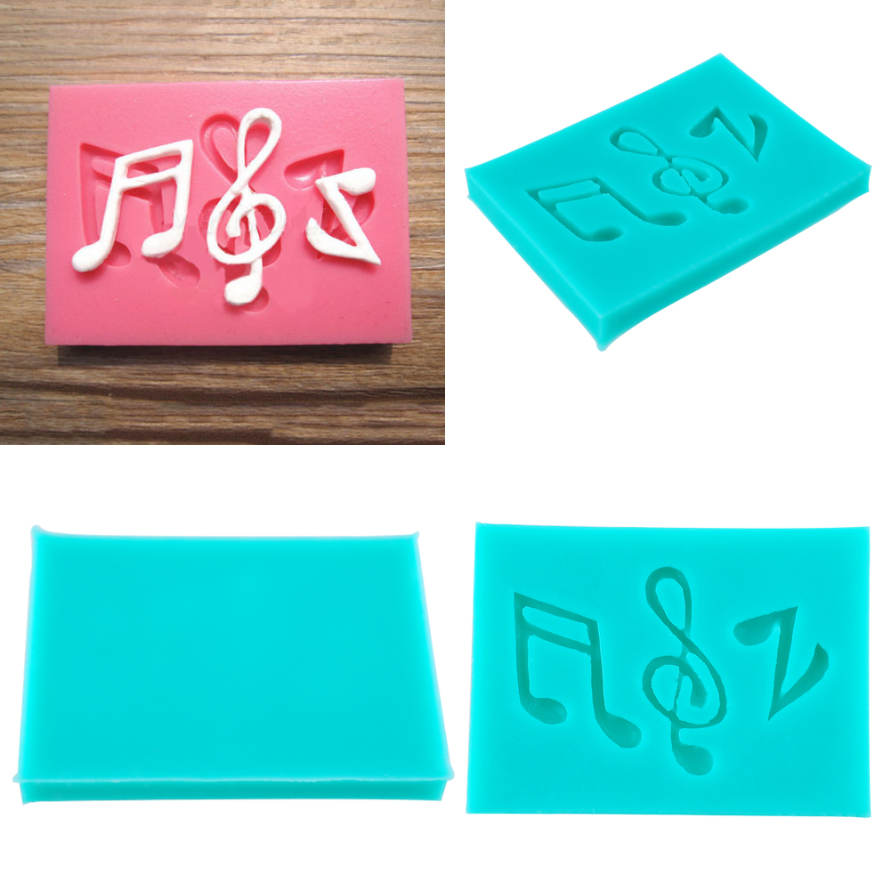 Creative Unique Silicone Musical Note Syncopated Fondant Mold Cake Sugarcraft Topper Chocolate Mould Baking Mould(China (Mainland))