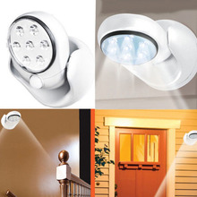 6V 7 LEDs Cordless Motion Activated Sensor Light Lamp 360 Degree Rotation Wall Lamps White Porch Light For Indoor and Outdoor(China (Mainland))