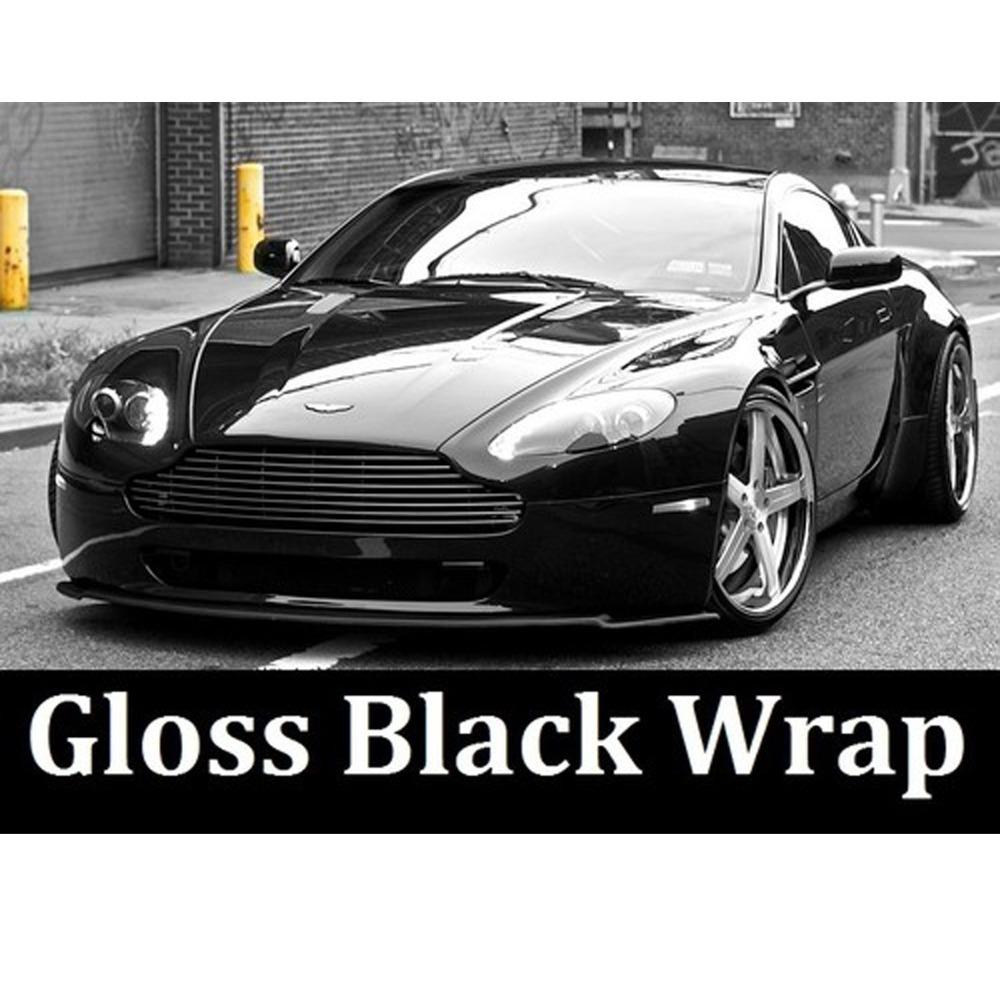 2015 new 1.52m*50cm free shipping Wholesale Price Black Gloss finish Vehicle Wrap Vinyl car sticker gloss vinyl wrap gloss wrap(China (Mainland))