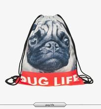 2015 new fashion escolar backpack 3d print travel softback man wonmen harajuku drawstring bag unisex backpacks