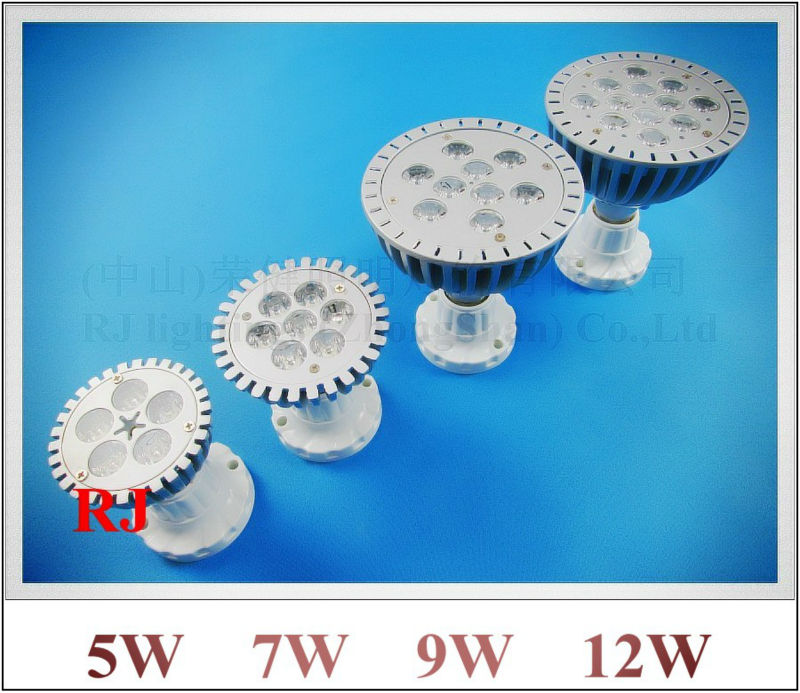 die-cast aluminum LED bulb spotlight 5W 7W 9W 12W LED spot light lamp par light parlight AC85-265V CE ROHS E27 high bright(China (Mainland))