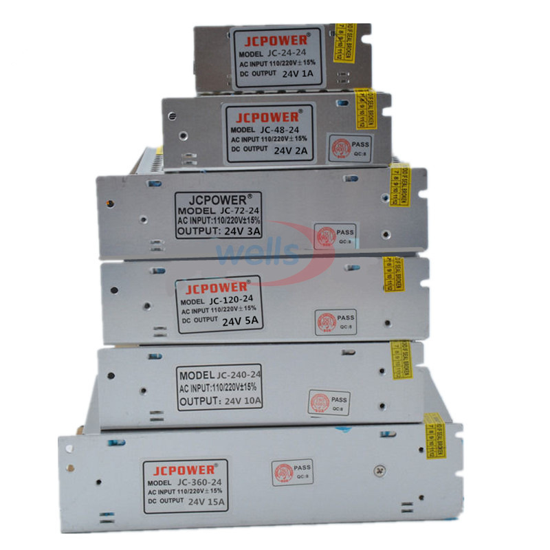 LED transformer 5V 12V 24V Switch LED Power Supply, 2A/3A/4A/5A/6A/10A/12A/20A/30A/40A/60A power For 5V 12V 24V led strip light(China (Mainland))