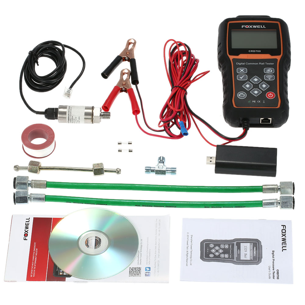 FOXWELL CRD700 Car Diagnostic Scan Tool Digital Common Rail Pressure Tester Scanner Wireless Data Transmitter(China (Mainland))