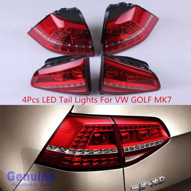 buy 4pcs car led light genuine volkswagen golf 7 waterproof flashing led tail. Black Bedroom Furniture Sets. Home Design Ideas