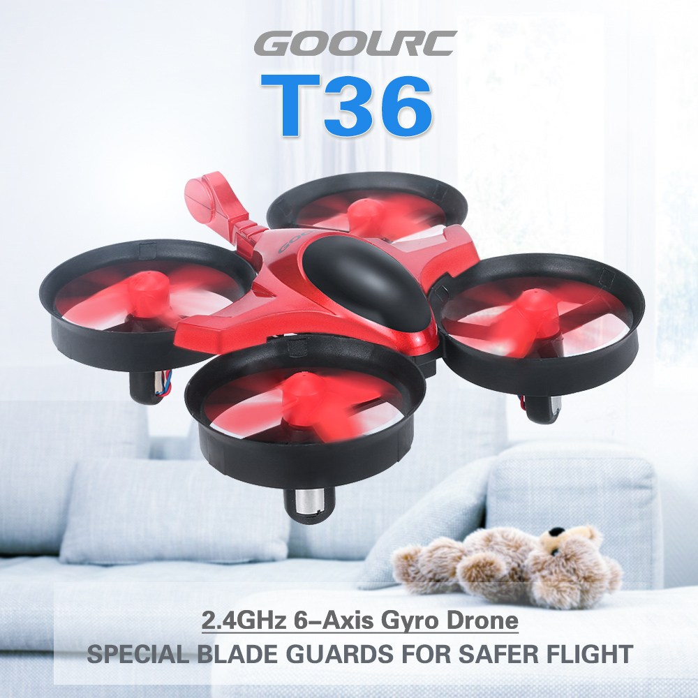 GoolRC Scorpion T36 2.4G 4CH 6-Axis Gyro 3D-Flip Anti-Crush UFO RC Quadcopter RTF Drone Great Remote Helicopter Toys VS JJRC H36(China (Mainland))