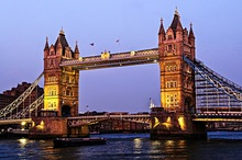 High Spray Art Painting Picture Beautiful Tower Bridge Wall Stickers London Famous Place Home Decoration(China (Mainland))