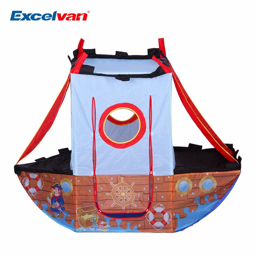 Excelvan Portable Pirate Ship Children Kids Play Tent Indoor and Outdoor Children Play House Tent For Great Fun Game House(China (Mainland))