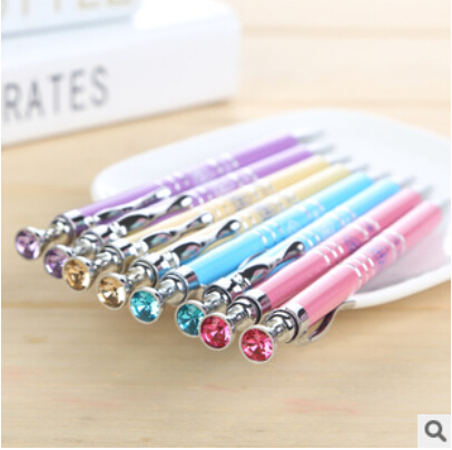 Fashion diamond mechanical pencil Automatic pen mechanical pencil Activities for school students writing 0.7mm pencil 10pcs/lot(China (Mainland))