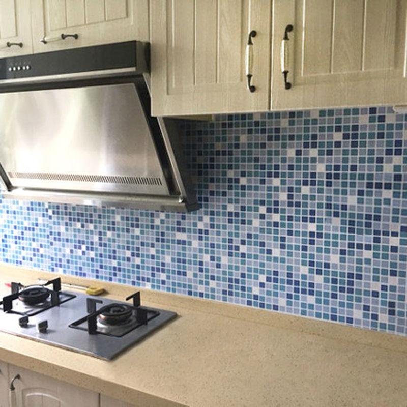 Azulejos Para Baños Adhesivos:azulejo mosaico papel pintado del pvc impermeable adhesivo de azulejo