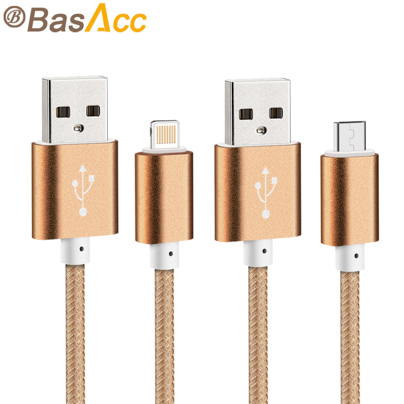 2015 Newest Colorful Nylon Line and Metal Plug Micro USB Cable for iPhone 6 6s Plus 5s iPadmini / Samsung / Sony / Xiaomi / HTC(China (Mainland))