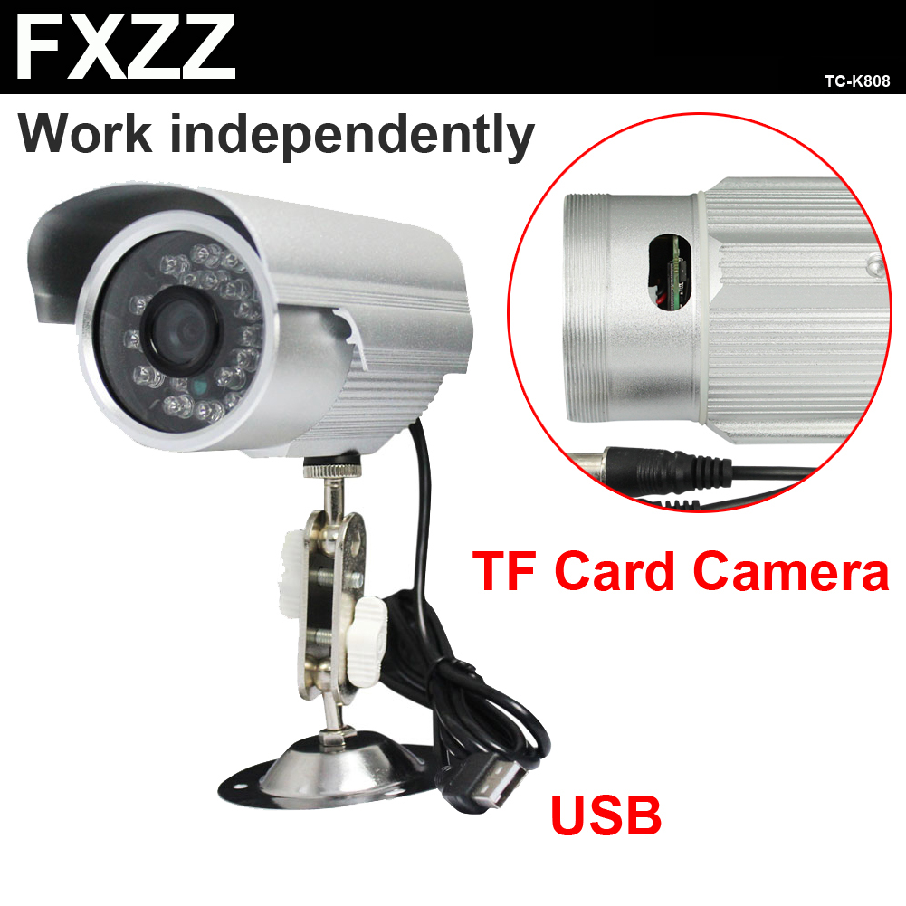 Sony CMOS TF card outdoor IP66 waterproof USB IR night vision security surveillance CCTV camera video recorder system TC-K808(China (Mainland))