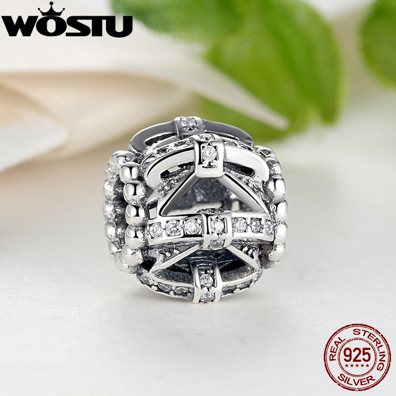 Real 925 Sterling Silver Shimmering Sentiments Charms Fit Original Pandora Bracelet Fashion DIY Authentic Jewelry Making Gift(China (Mainland))