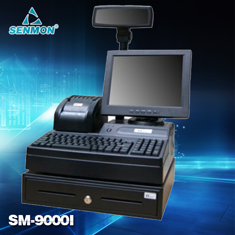 "Bargain price! 12"" Retail POS Machine POS Terminal Pos Register All in One Mini Cash Register High Speed printer(China (Mainland))"
