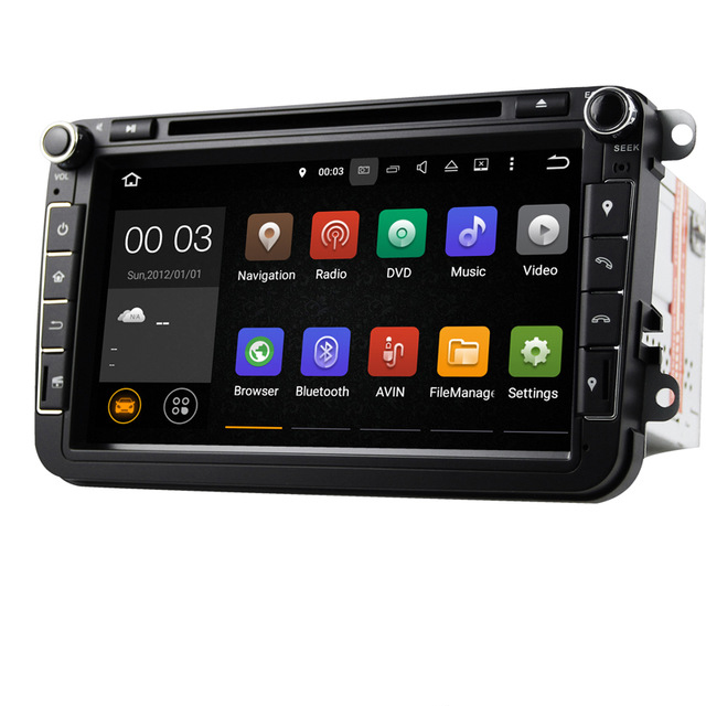 "Quad core Android 5.1 8"" Car DVD Player with GPS System For VW Skoda POLO GOLF 5 6 PASSAT CC JETTA TIGUAN TOURAN Fabia Caddy(China (Mainland))"