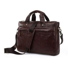 Maxdo Vintage Chocolate Men Genuine Leather Briefcase Portfolio Messenger Bags #M7075(China (Mainland))