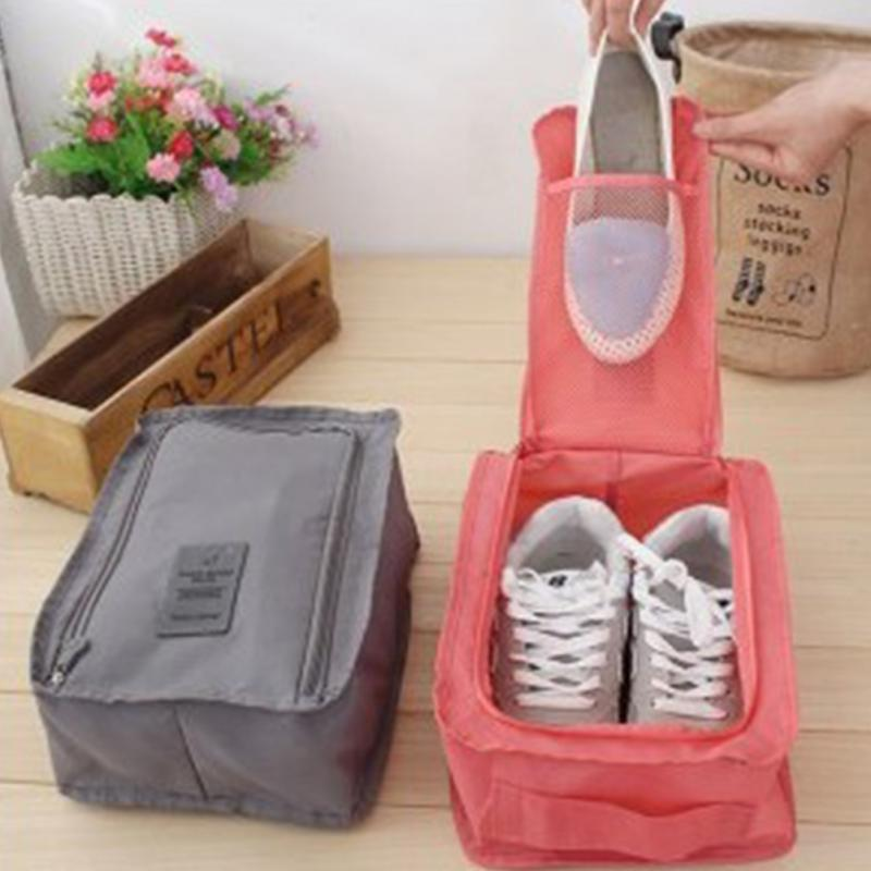 2016 Fashion Outdoor Travel Portable Waterproof Tote Shoes Storage Pouch Travel Wash Pouch Handbag Wholesale(China (Mainland))