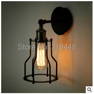 Wall Lamp American Village Restaurant Bar Industrial Retro Creative Personality Iron Wall Lamp Bronze Wall Light<br><br>Aliexpress
