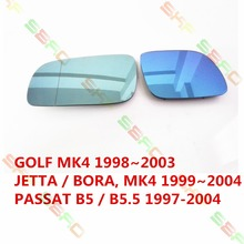 Car styling Heating ERSATZGLAS SPIEGELGLAS Side Mirror Glass  For VW GOLF 4  JETTA MK4  PASSAT B5  1997-2004   1 SET