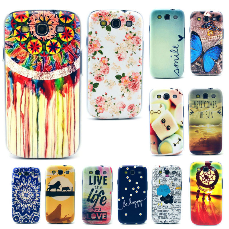 New Fashion Vintage Colorful Protective Hard Shell Mobile Cell Phone Case Cover For Samsung Galaxy S3 S III i9300 i9305(China (Mainland))