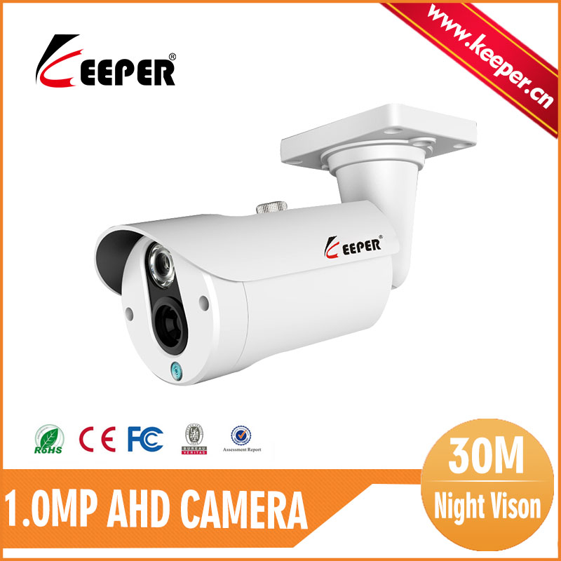 KEEPER Freeshipping Mini White Waterproof Metal Security Camera 3.6mm Fixed Lens 30M Night Vision 720P Analog HD Camera AHD Cam(China (Mainland))